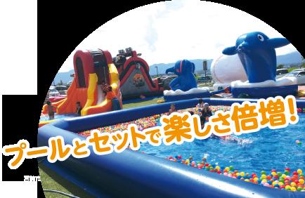 プールとセットで楽しさ倍増!