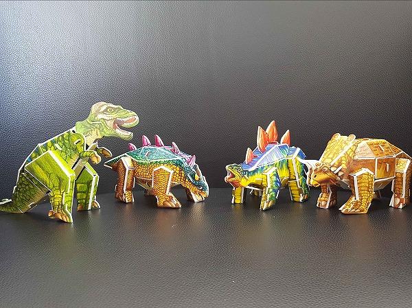 3Dパズル恐竜カラフル